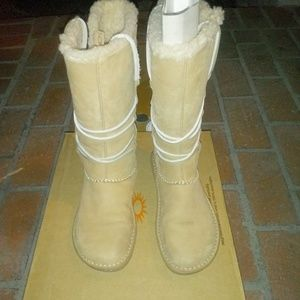 Ugg Catalina Honey Leather Sheepskin Boots